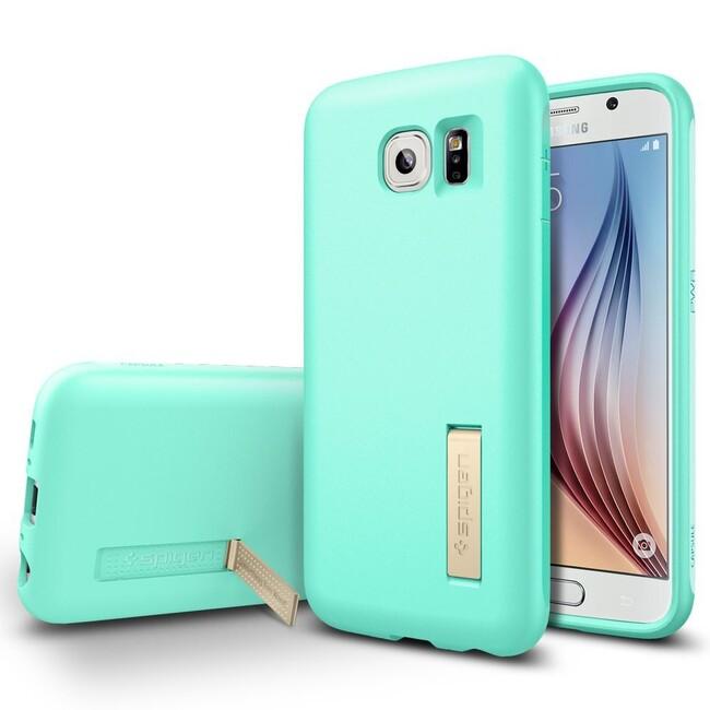 Чехол Spigen Capsule Solid Mint для Samsung Galaxy S6