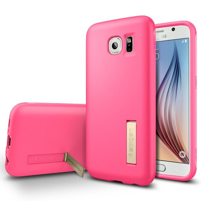 Чехол Spigen Capsule Solid Azalea Pink для Samsung Galaxy S6