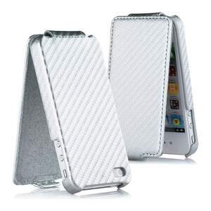 Купить Flip чехол CARBON White для iPhone 4