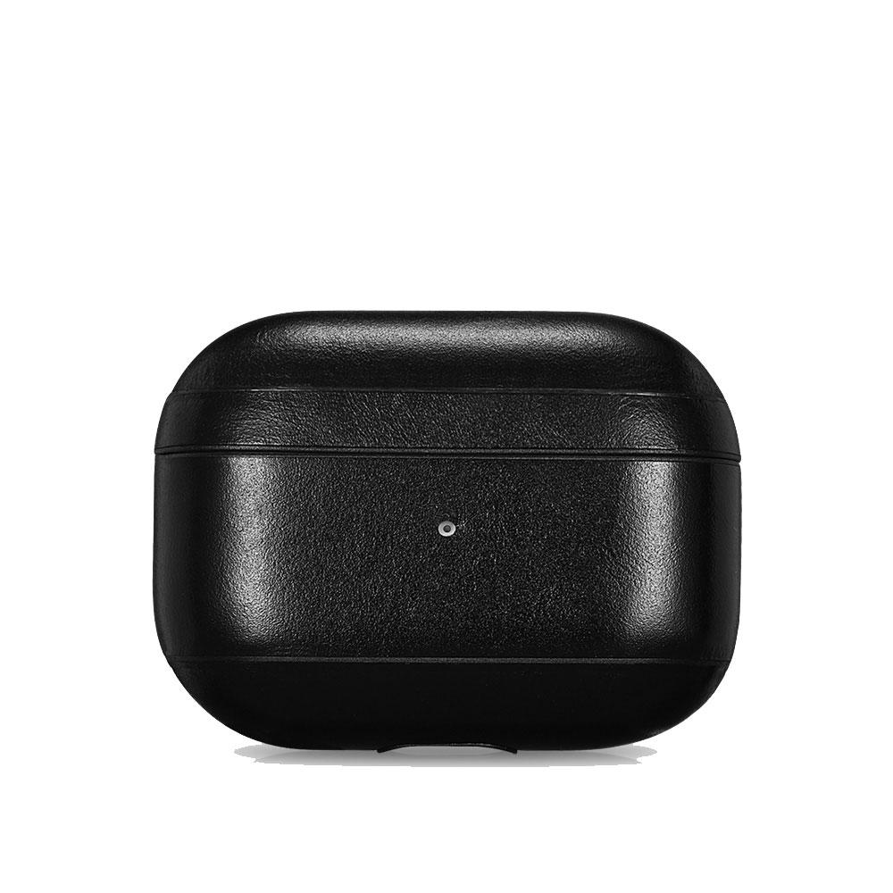 Купить Черный кожаный чехол для Apple AirPods Pro iCarer Vintage Leather Classic Style