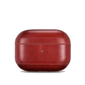 Купить Красный кожаный чехол для Apple AirPods Pro iCarer Vintage Leather Classic Style