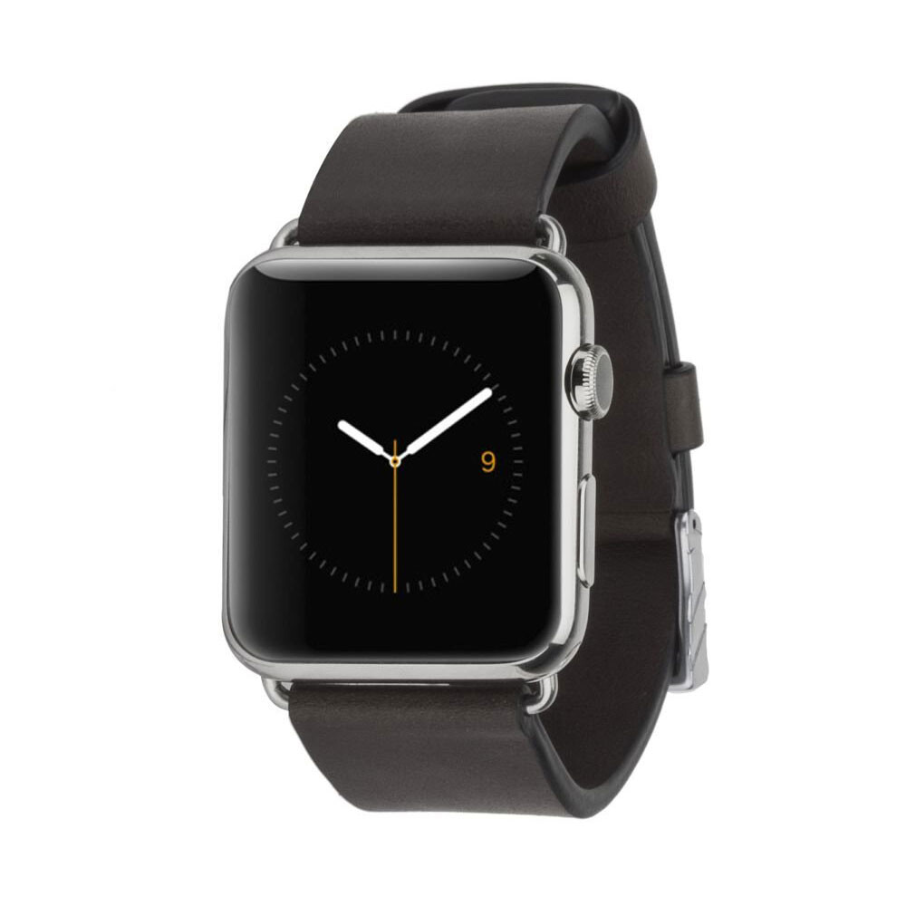 Кожаный ремешок Case-Mate Signature Leather Band Black для Apple Watch 42mm | 44mm SE | 6 | 5 | 4 | 3 | 2 | 1