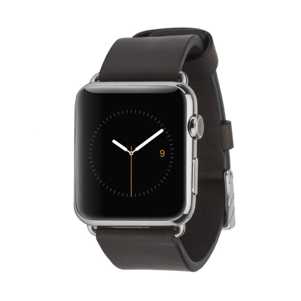 Купить Кожаный ремешок Case-Mate Signature Leather Band Black для Apple Watch 42mm | 44mm SE | 6 | 5 | 4 | 3 | 2 | 1