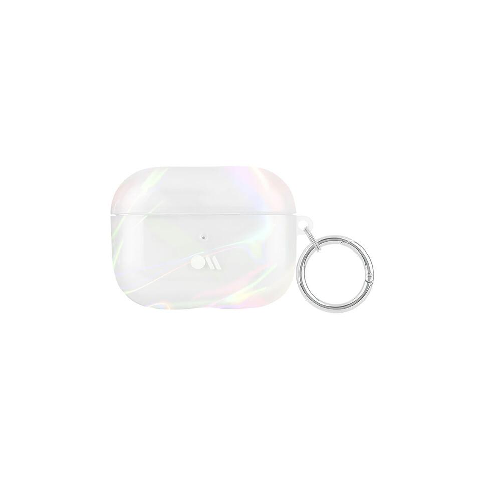 Купить Блестящий силиконовый чехол с карабином Case-Mate Soap Bubble для AirPods Pro