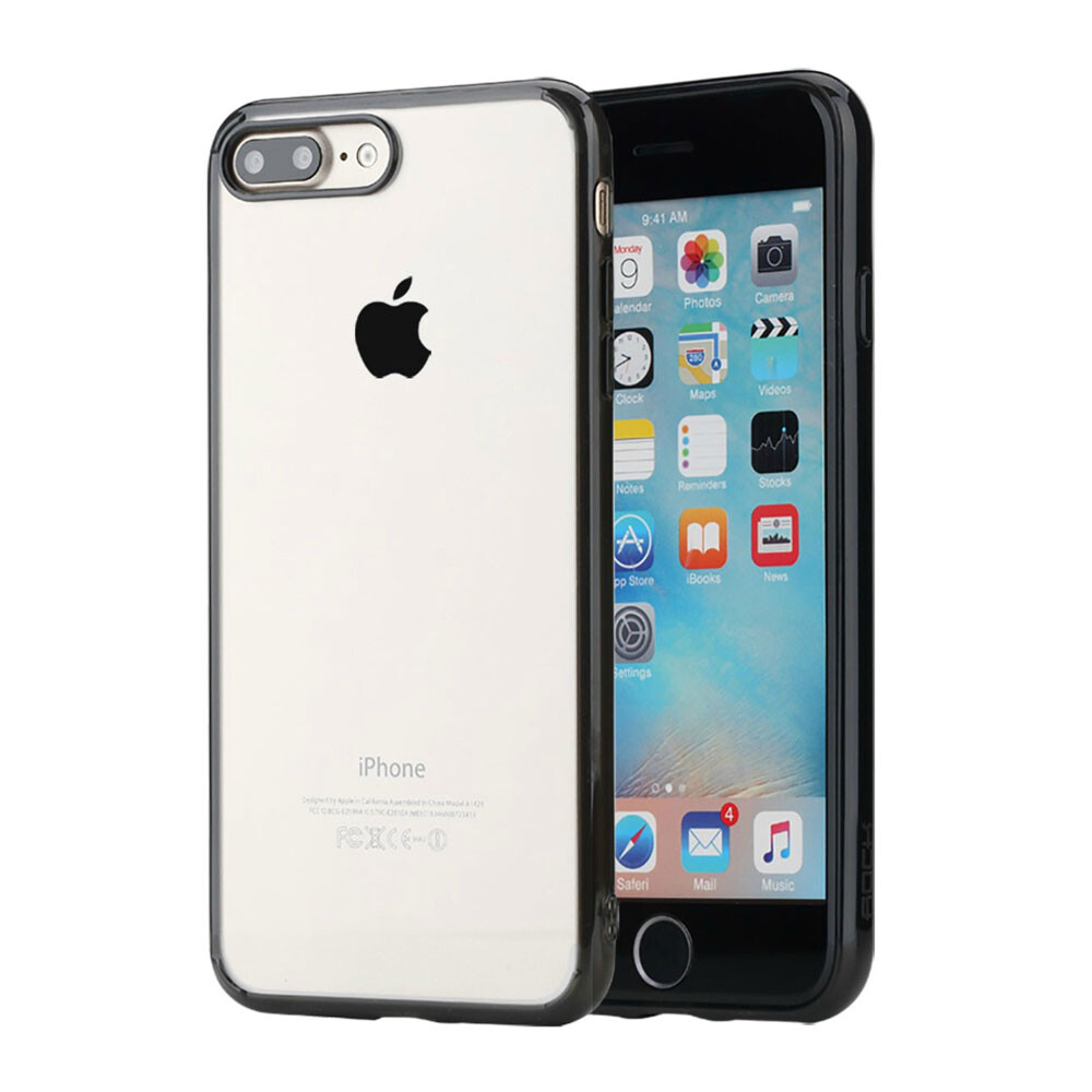 Пластиковый чехол ROCK Pure Series Transparent Black для iPhone 7 Plus/8 Plus