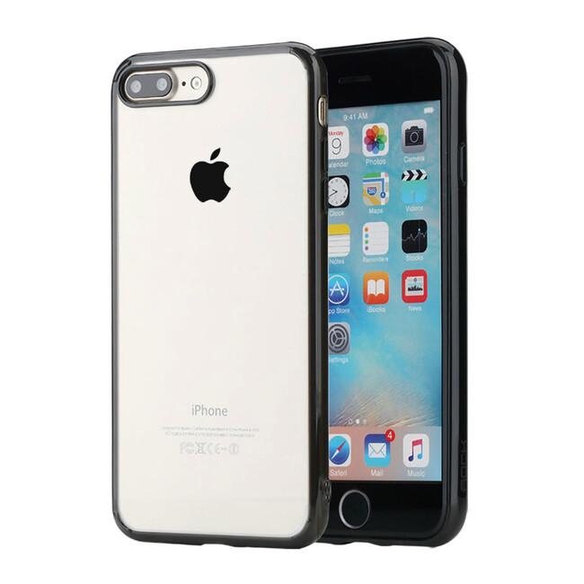 Пластиковый чехол ROCK Pure Series Transparent Black для iPhone 7 Plus