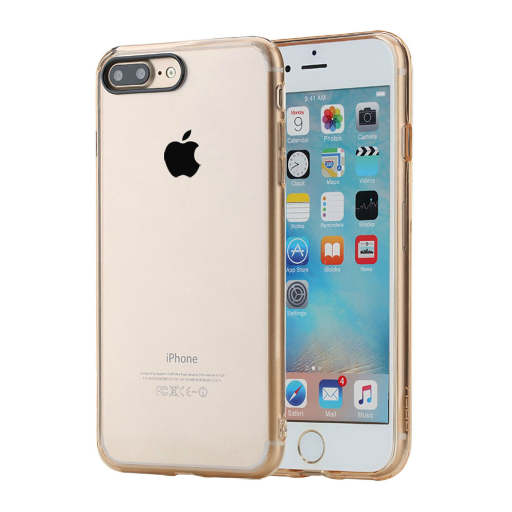 Пластиковый чехол ROCK Pure Series Transparent Gold для iPhone 7 Plus