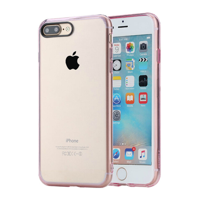 Пластиковый чехол ROCK Pure Series Transparent Pink для iPhone 7 Plus