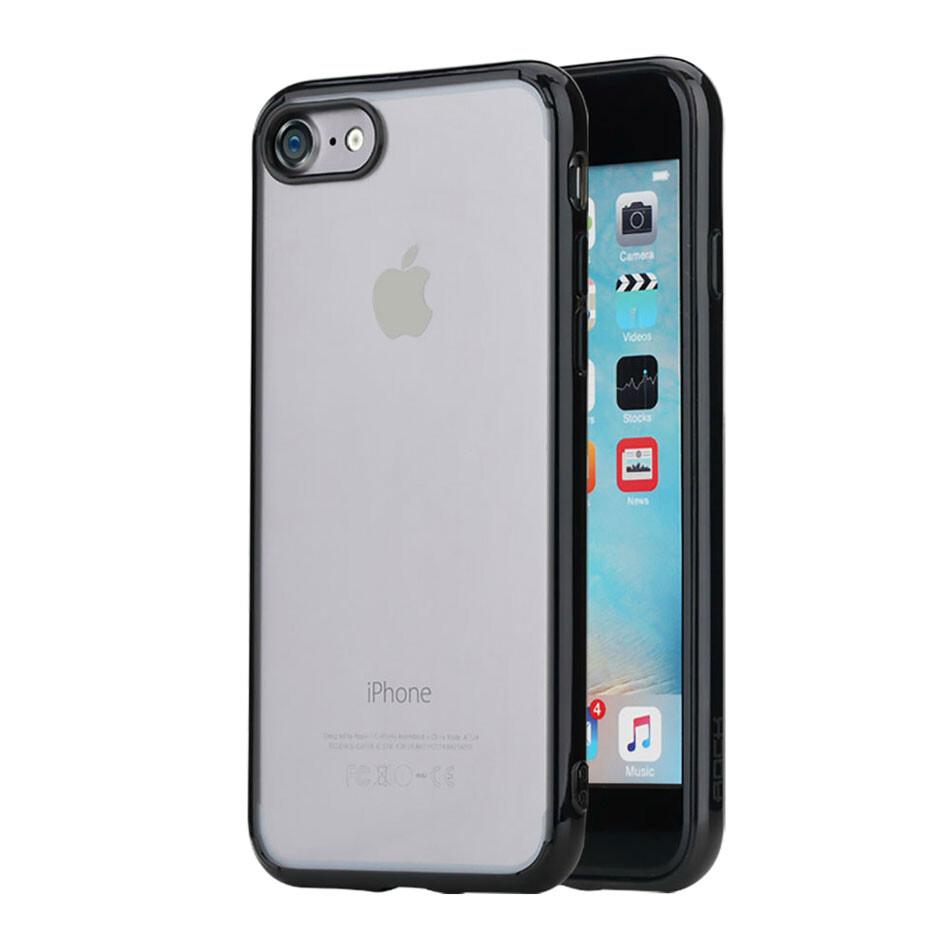 Пластиковый чехол ROCK Pure Series Transparent Black для iPhone 7/8