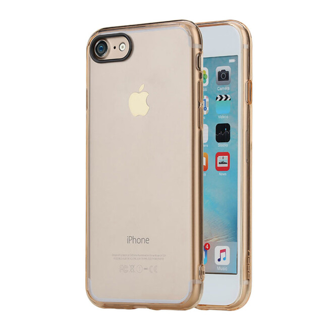 Пластиковый чехол ROCK Pure Series Transparent Gold для iPhone 7