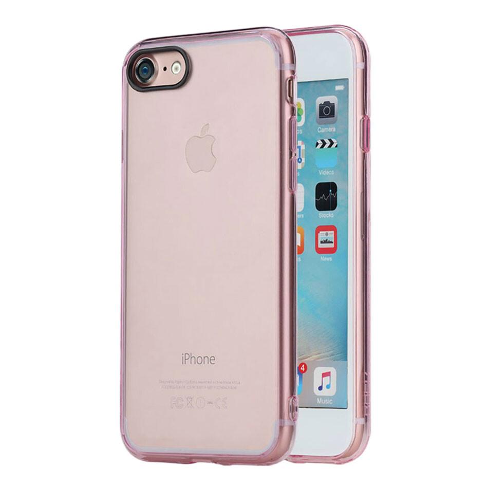 Пластиковый чехол ROCK Pure Series Transparent Pink для iPhone 7/8