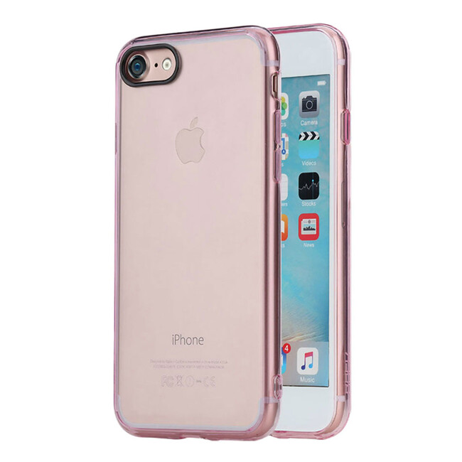 Пластиковый чехол ROCK Pure Series Transparent Pink для iPhone 7