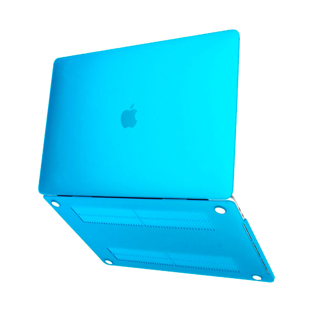 "Пластиковый чехол oneLounge Soft Touch Blue для MacBook Air 13"" M1 | 2020 | 2019 | 2018"