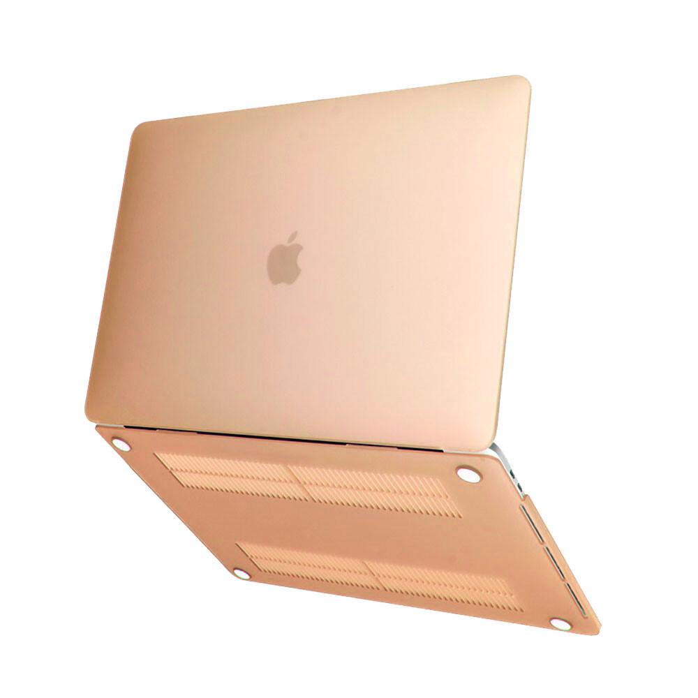 "Пластиковый чехол iLoungeMax Soft Touch Gold для MacBook Air 13"" (M1   2020   2019   2018)"
