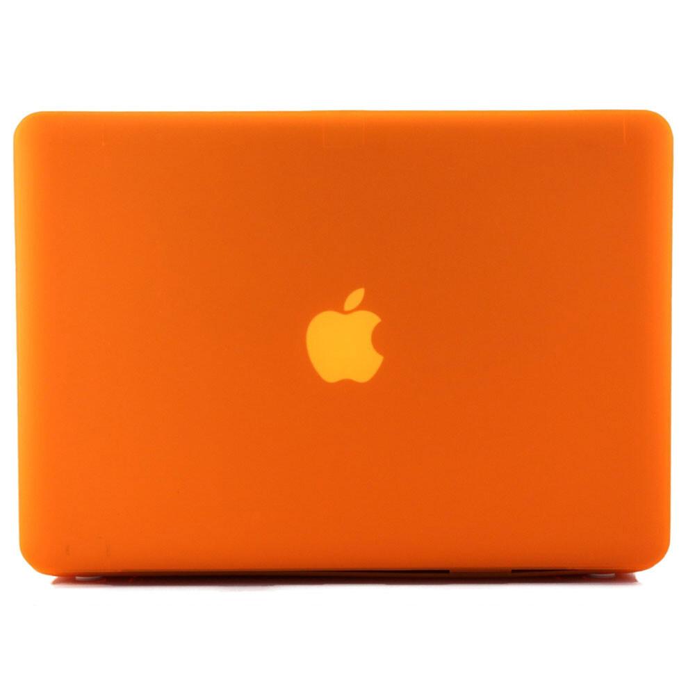 """Оранжевый пластиковый чехол Soft Touch для MacBook Pro 15.4"""""""