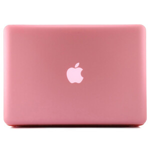 """Купить Розовый пластиковый чехол Soft Touch для MacBook Pro 15.4"""""""