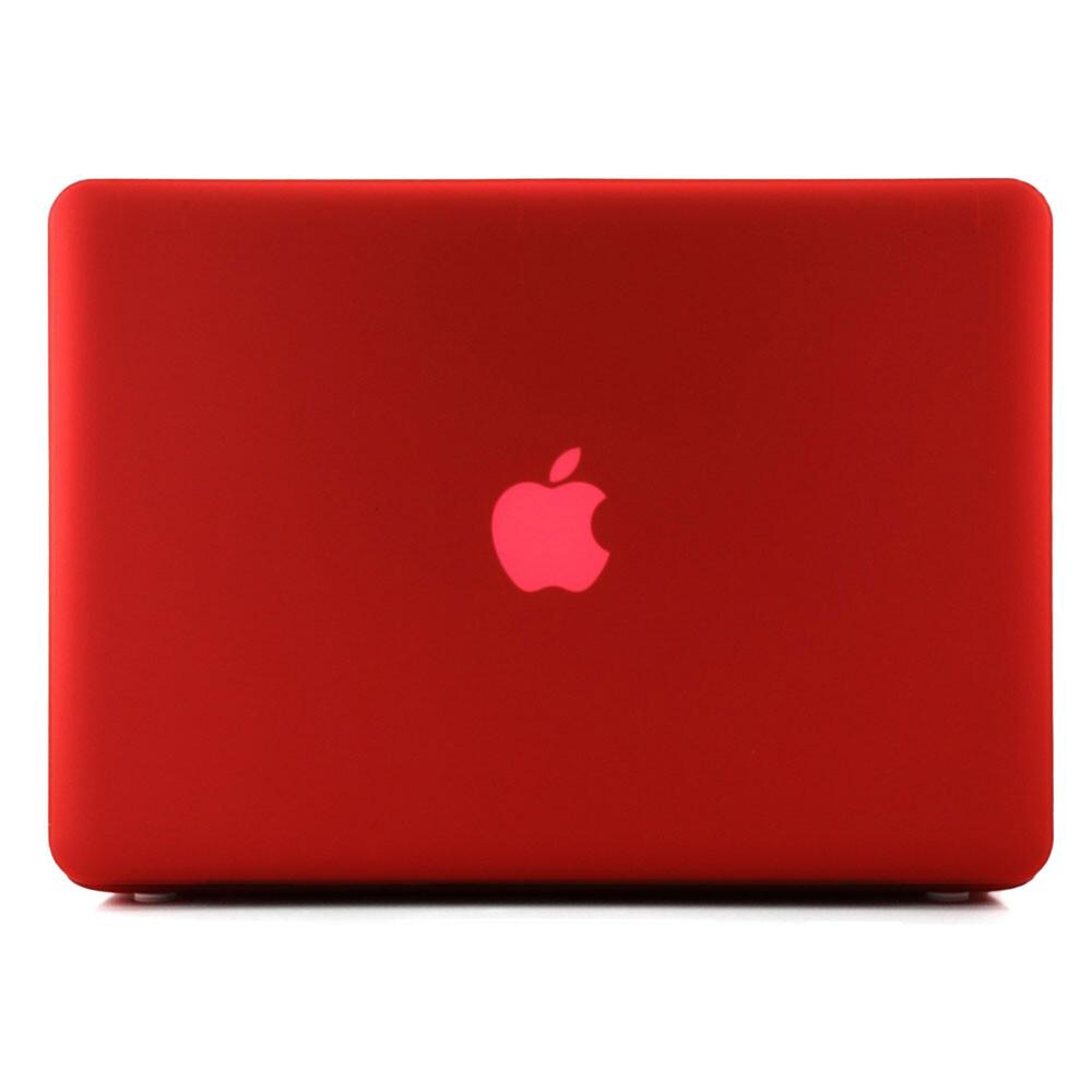 """Красный пластиковый чехол Soft Touch для MacBook Pro 13.3"""""""