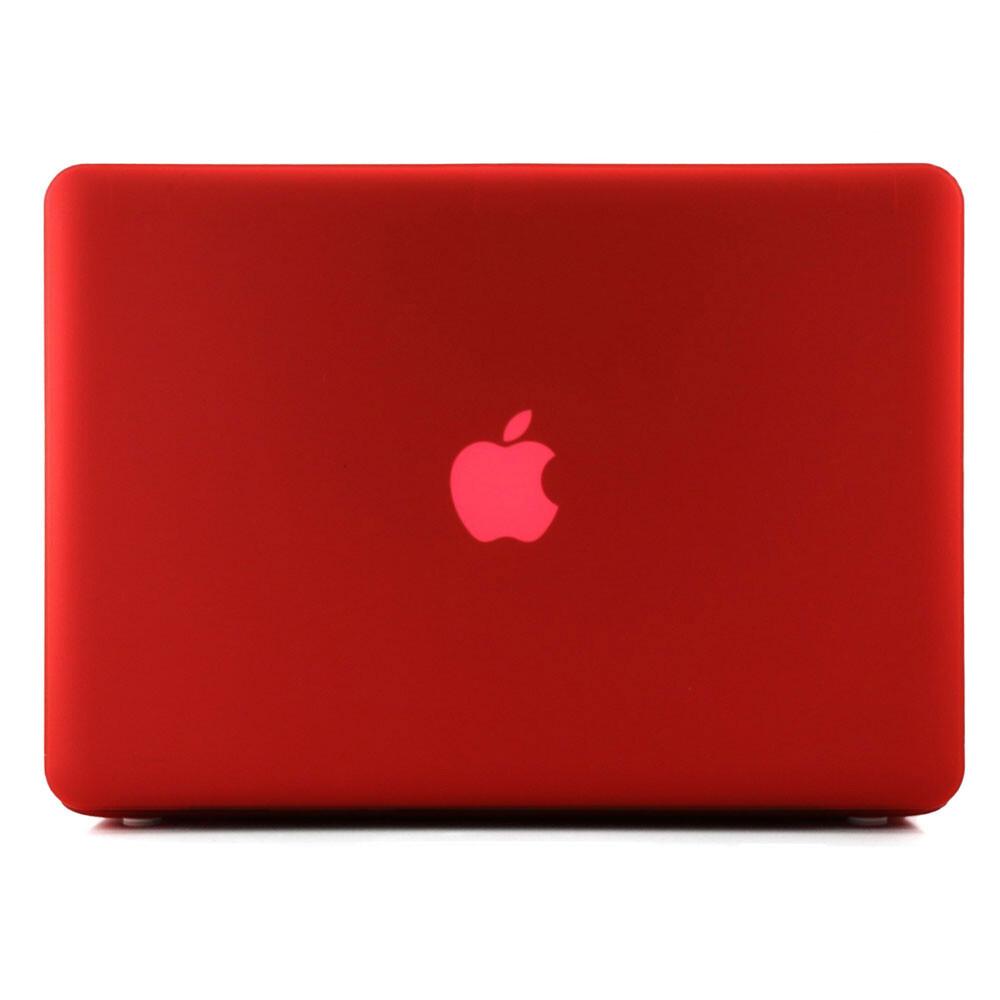 """Красный пластиковый чехол Soft Touch для MacBook Pro 15.4"""""""