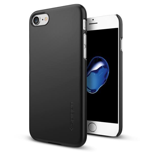 Чехол Spigen Thin Fit Black для iPhone 7/8
