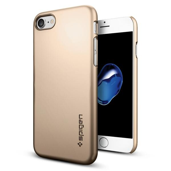 Чехол Spigen Thin Fit Champagne Gold для iPhone 7/8