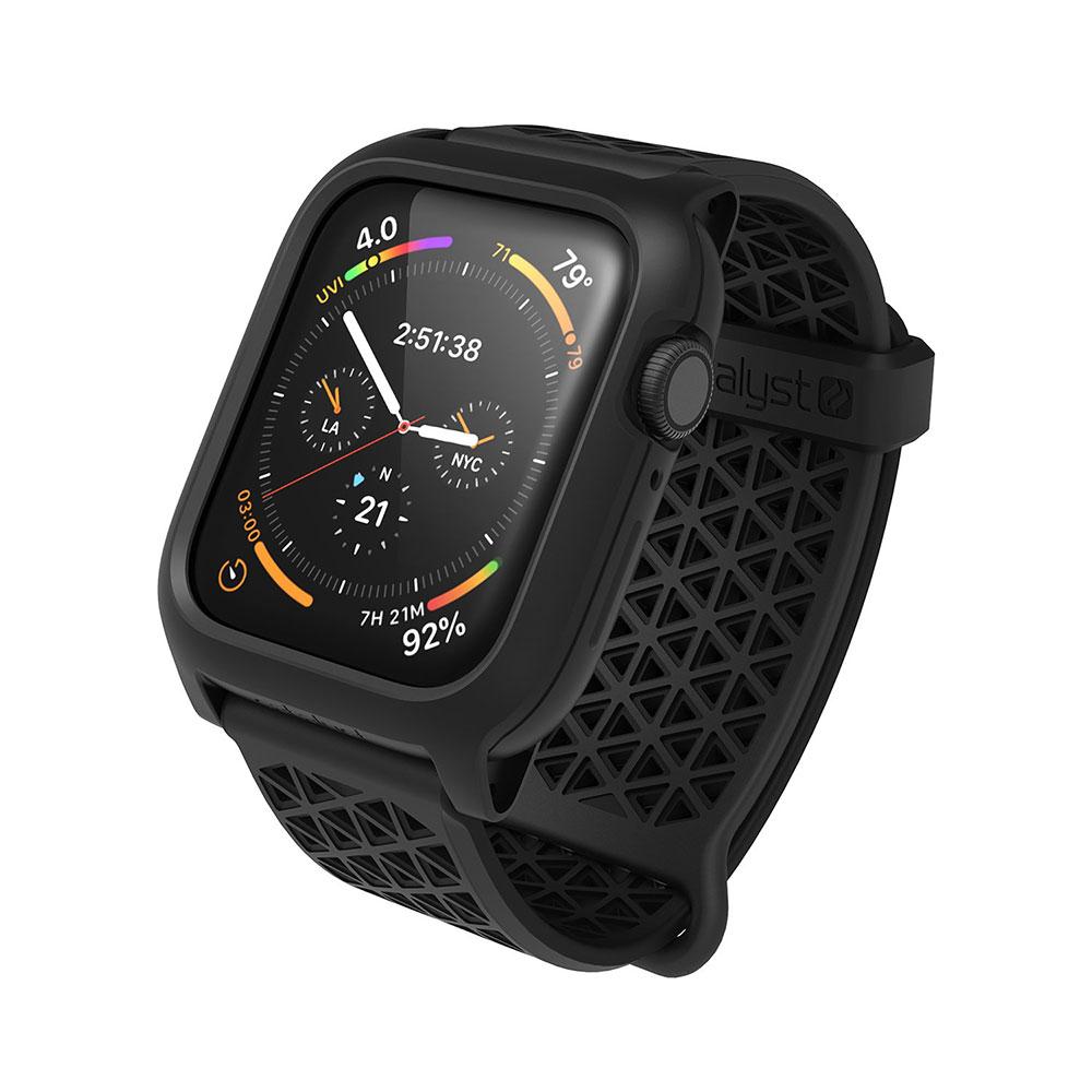 Купить Противоударный чехол-ремешок Catalyst Impact Protection Stealth Black для Apple Watch 44mm SE | 6 | 5 | 4