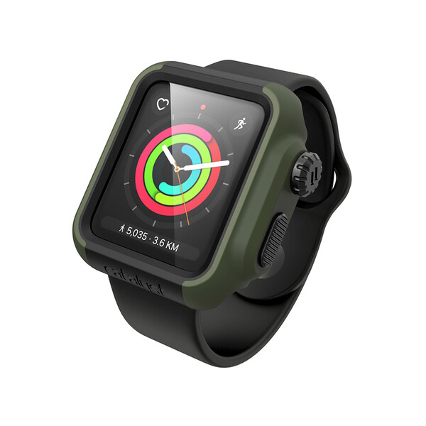 Противоударный чехол Catalyst Impact Protection Army Green для Apple Watch 42mm Series 2 | 3