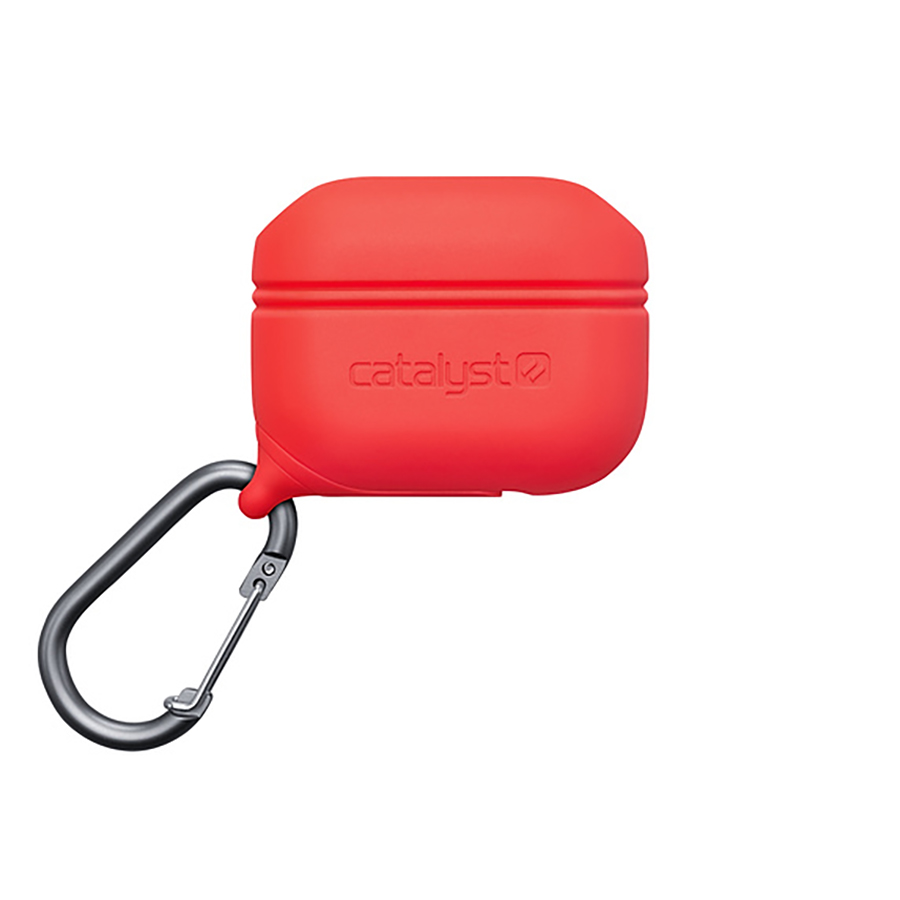 Купить Противоударный водонепроницаемый чехол с карабином Catalyst Waterproof Case Red для AirPods Pro