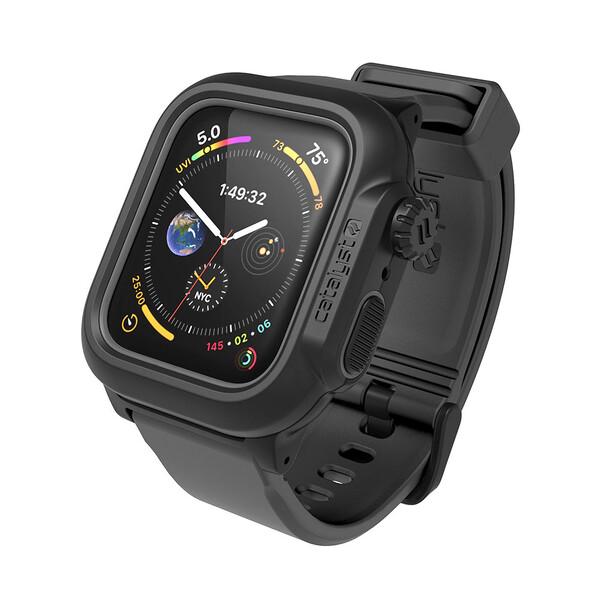 Противоударный чехол-ремешок Catalyst Waterproof Case Space Gray для Apple Watch 44mm SE | 6 | 5 | 4