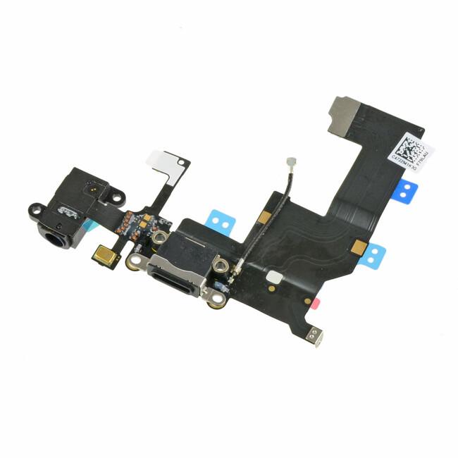 Шлейф с разъемом зарядки 30-pin и аудио-разъемом для iPhone 5