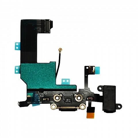 Шлейф с разъемом зарядки 30-pin и аудио-разъемом для iPhone 5C