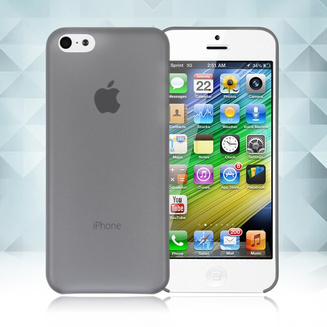 Черный ультратонкий чехол O'Thinner 0.2mm для iPhone 5C