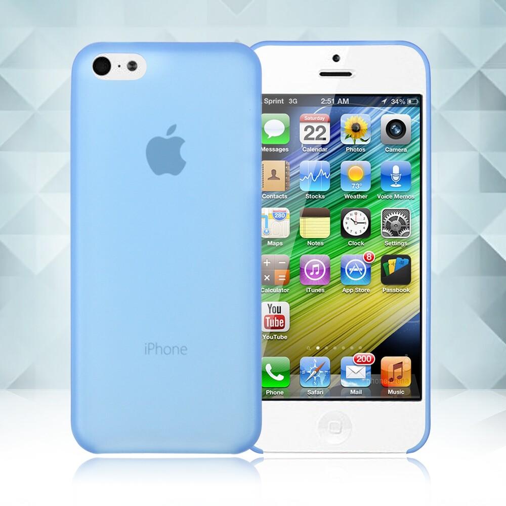 Голубой ультратонкий чехол O'Thinner 0.2mm для iPhone 5C