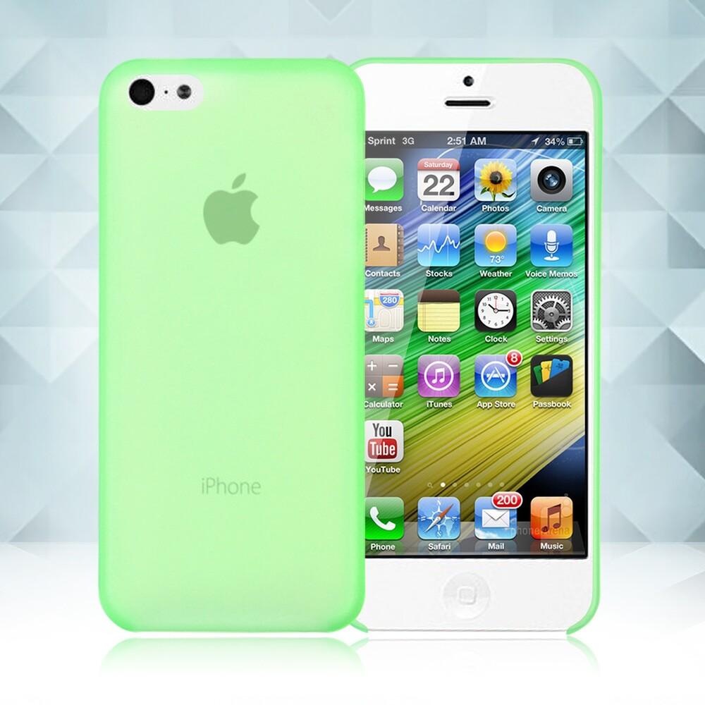 Зеленый ультратонкий чехол O'Thinner 0.2mm для iPhone 5C