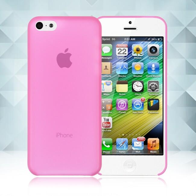 Розовый ультратонкий чехол O'Thinner 0.2mm для iPhone 5C