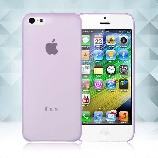 Фиолетовый ультратонкий чехол O'Thinner 0.2mm для iPhone 5C
