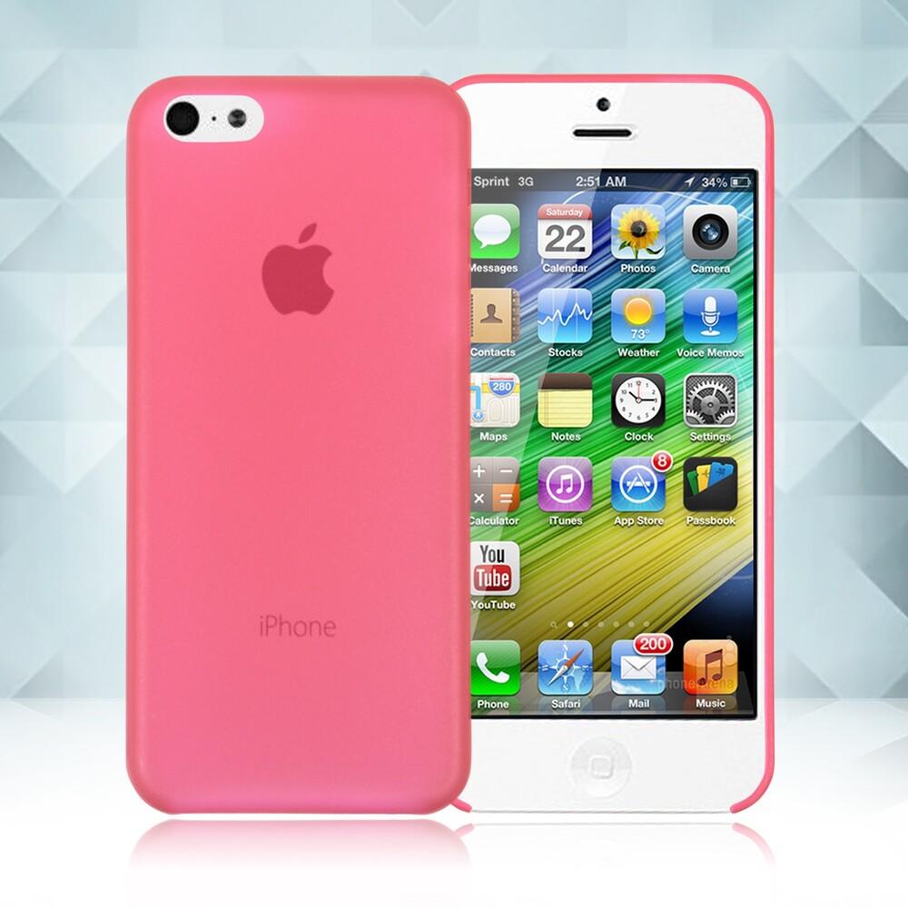 Красный ультратонкий чехол O'Thinner 0.2mm для iPhone 5C