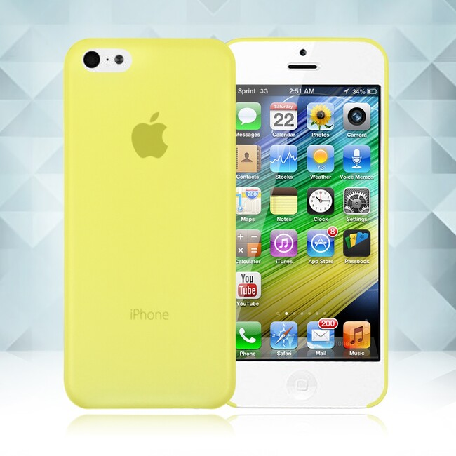 Желтый ультратонкий чехол O'Thinner 0.2mm для iPhone 5C