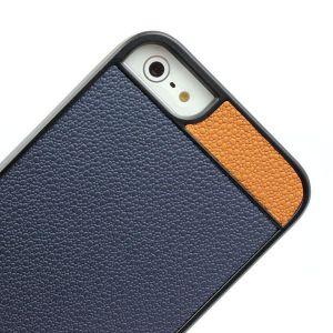 Купить Чехол Litchi Grain с кожаной накладкой для iPhone 5/5S/SE