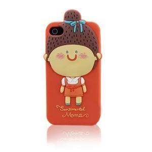 Купить Силиконовый 3D чехол Momo's Girl для iPhone 4/4S