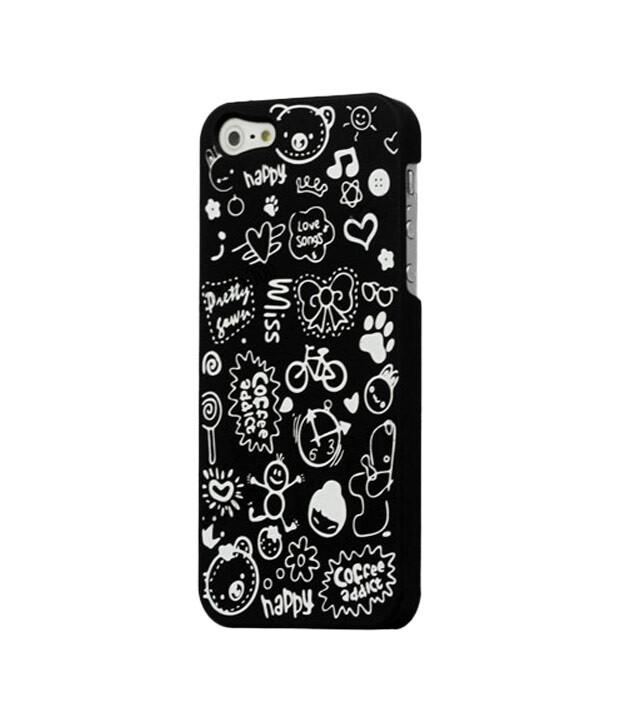 Черный чехол Candy Cartoon для iPhone 5/5S/SE
