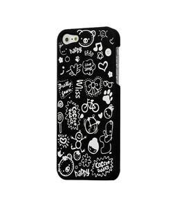 Купить Черный чехол Candy Cartoon для iPhone 5/5S/SE