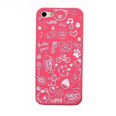 Розовый чехол Candy Cartoon для iPhone 5/5S/SE