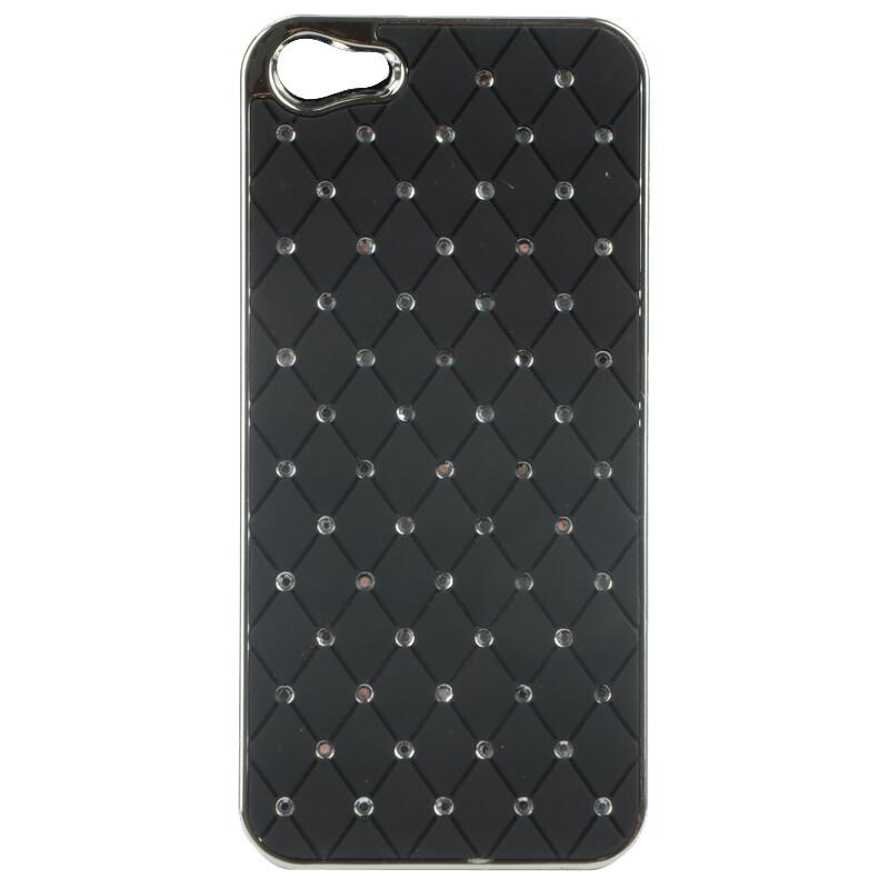 Чехол Minjes Swarovski Black для iPhone 5/5S/SE