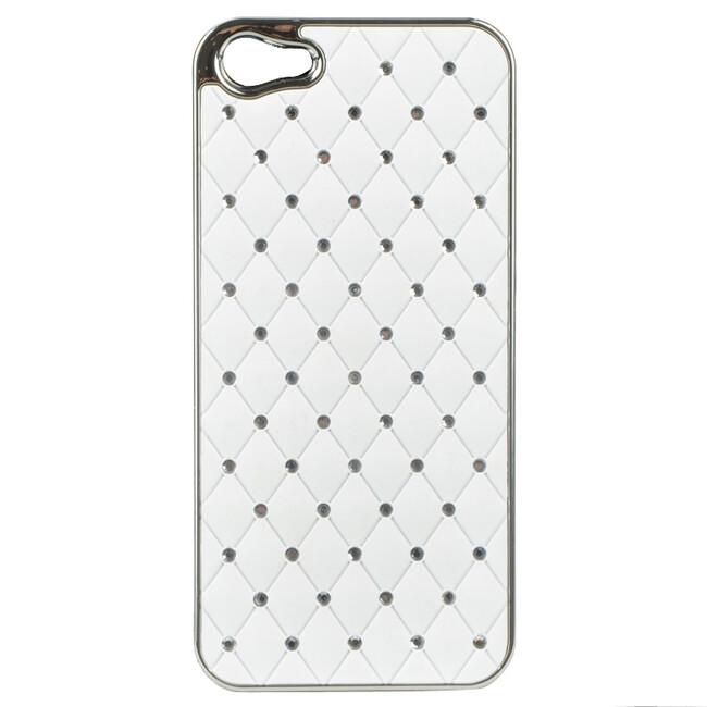 Чехол Minjes Swarovski White для iPhone 5/5S/SE