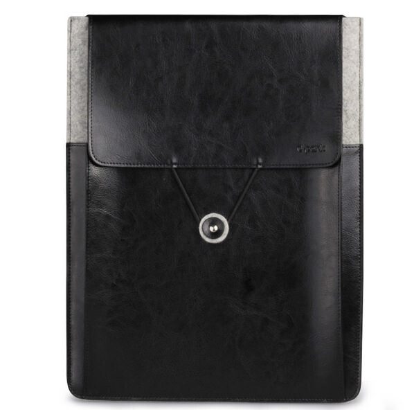 Кожаный чехол d-park Vintage Envelope Black для MacBook Air/Pro 13