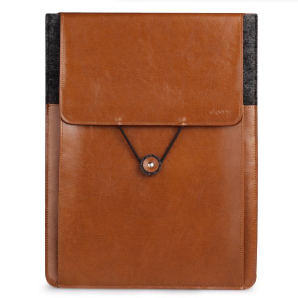 Кожаный чехол d-park Vintage Envelope Coffee для MacBook Air/Pro 13