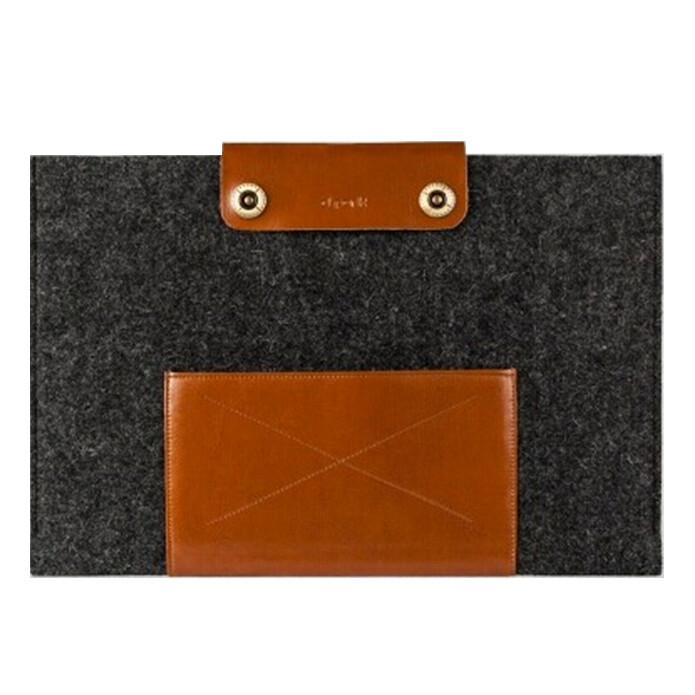 Чехол d-park Woolfelt Dark Grey & Coffee для Macbook Air 11