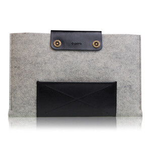 Купить Чехол d-park Woolfelt Light Grey & Black для Macbook Air 11