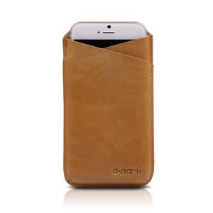 Купить Кожаный чехол d-park V-Neck Cofee для iPhone 6/6s/7 Plus