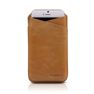 Купить Кожаный чехол d-park V-Neck Cofee для iPhone 6 Plus/6s Plus/7 Plus/8 Plus/X